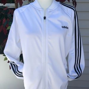 ADIDAS Women White/Black Sport Jacket Sise L